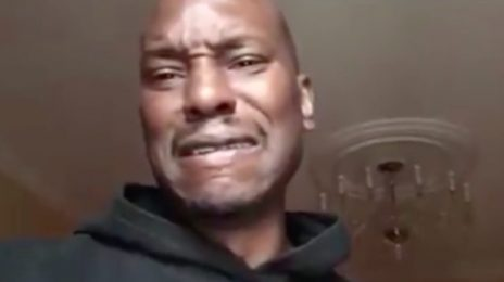 "Tyrese Meltdown! Singer Declares ""I'm Almost Broke"" / Drags The Rock (Again)"