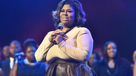 Ouch!  Kim Burrell Takes a Tumble On Stage [Video]
