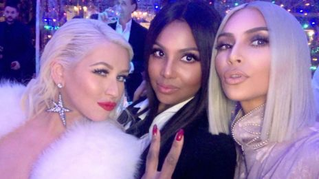 Hot Shots: Christina Aguilera, Kim Kardashian, & Toni Braxton Pose It Up At Christmas Party