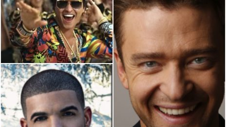 Drake & Bruno Mars Rise As Justin Timberlake Falls On British Charts