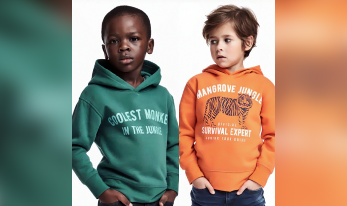 h m under fire for racist ad featuring black modei in coolest monkey in the jungle hoody. Black Bedroom Furniture Sets. Home Design Ideas