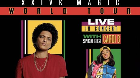 Bruno Mars Officially Announces New '24k Magic Tour' With Cardi B