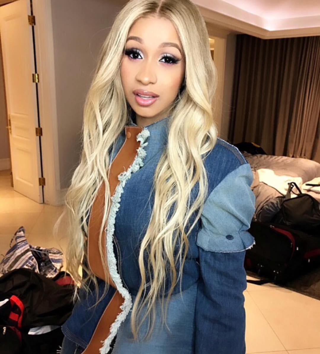 Cardi B Debuts Colorful New Butterfly Back Tattoo: Cardi B Debuts New Blonde Do'