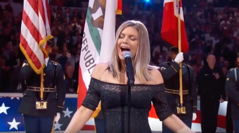 Fright Night! Fergie Butchers US National Anthem At NBA ... Fergie National Anthem