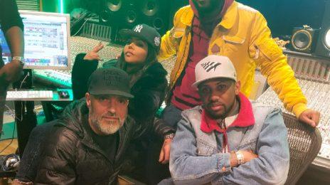 Lil Kim Hits The Studio With Fabolous