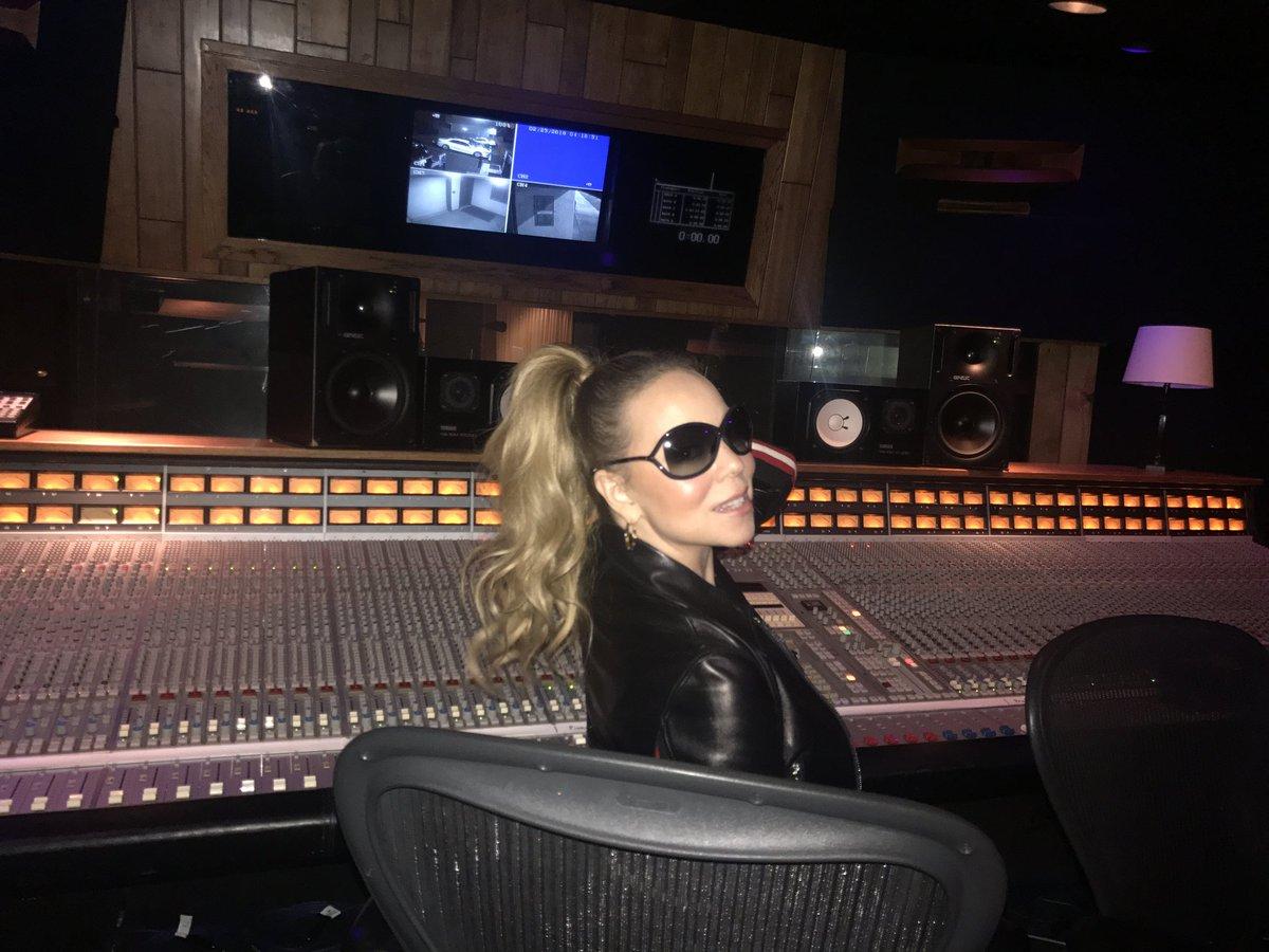 hot shot mariah carey hits the studio for new album