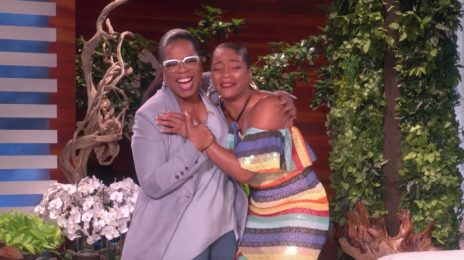 Watch: Oprah Surprises Superfan Tiffany Haddish On 'Ellen'