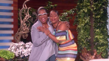 Watch: Oprah Surprises Superfan Tiffany Haddish On 'Ellen'