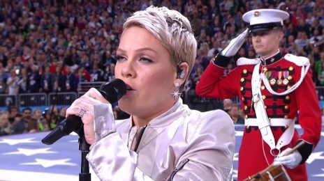 Watch: Pink Performs The 'Star Spangled Banner' At Super Bowl