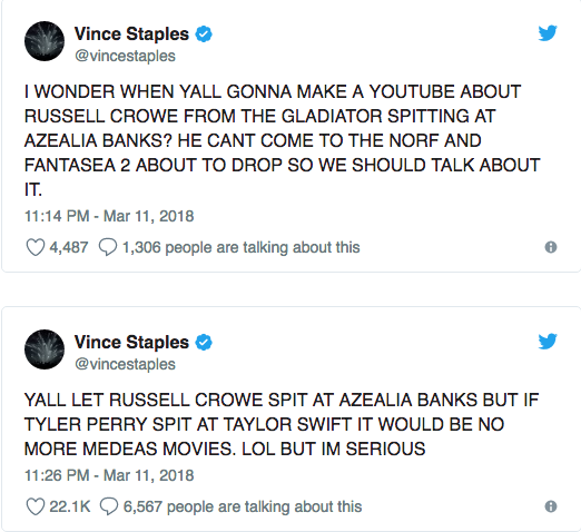Azealia Banks on Russell Crowe Incident: 'I'm Not Over It