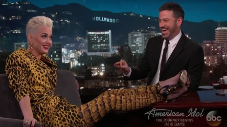 Katy Perry Visits 'Kimmel' / Spills On 'American Idol' Reboot
