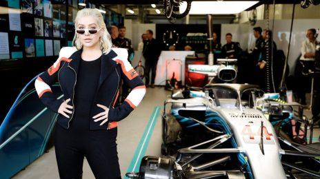 Christina Aguilera Re-Surfaces At F1 Azerbaijan Grand Prix