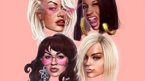Hot Shot:  Rita Ora Unveils Artwork For 'Girls' (featuring Cardi B, Bebe Rexha, & Charli XCX)