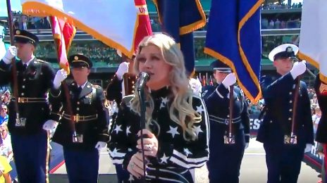 Watch: Kelly Clarkson Belts US National Anthem At Indy 500