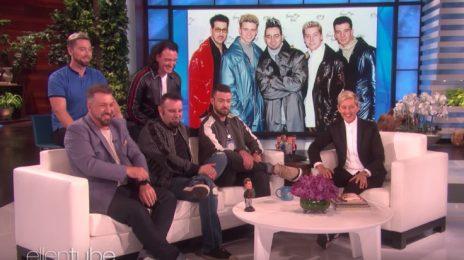 NSYNC Surprise 'Ellen' / Talk Walk Of Fame Honor & Play 'Never Have I Ever'