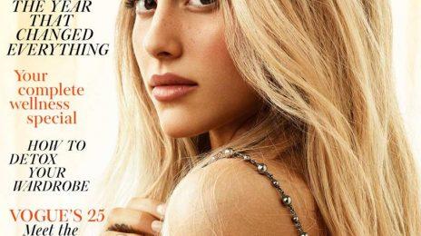 Ariana Grande Blazes British Vogue As A Blonde