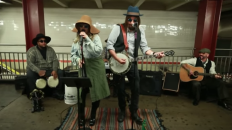 Watch:  Christina Aguilera & Jimmy Fallon Busk in NYC Subway in Disguise