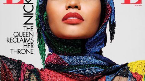 Nicki Minaj Covers Elle Magazine / Shot By Iconic Karl Lagerfeld