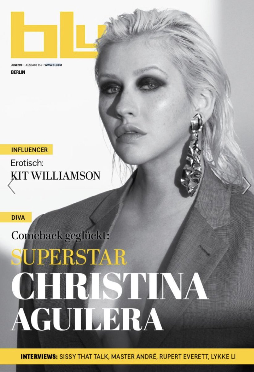 Christina Aguilera Covers Blu Magazine That Grape Juice