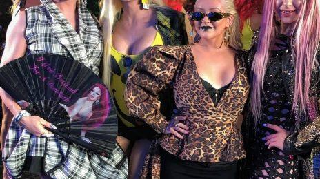 Christina Aguilera Makes Surprise Appearance At LA Pride / Debuts New 'Accelerate' Remix