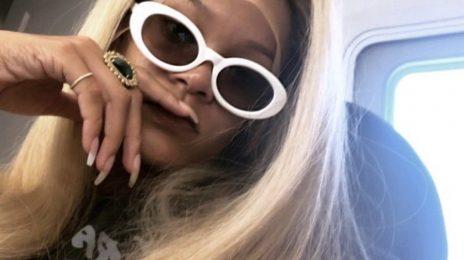 Rihanna Debuts New Blonde Hair Do