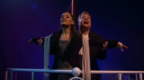 Ariana Grande & James Corden Re-Create 'Titanic' Using Songs By Lady Gaga, Timbaland, Celine Dion, & More [Video]