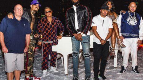 Hot Shots: Fat Joe & Chris Brown Shoot The 'Attention' Music Video