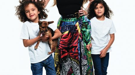 Mariah Carey, Christina Aguilera, & Kanye West Rock Harper's Bazaar With Their Kids