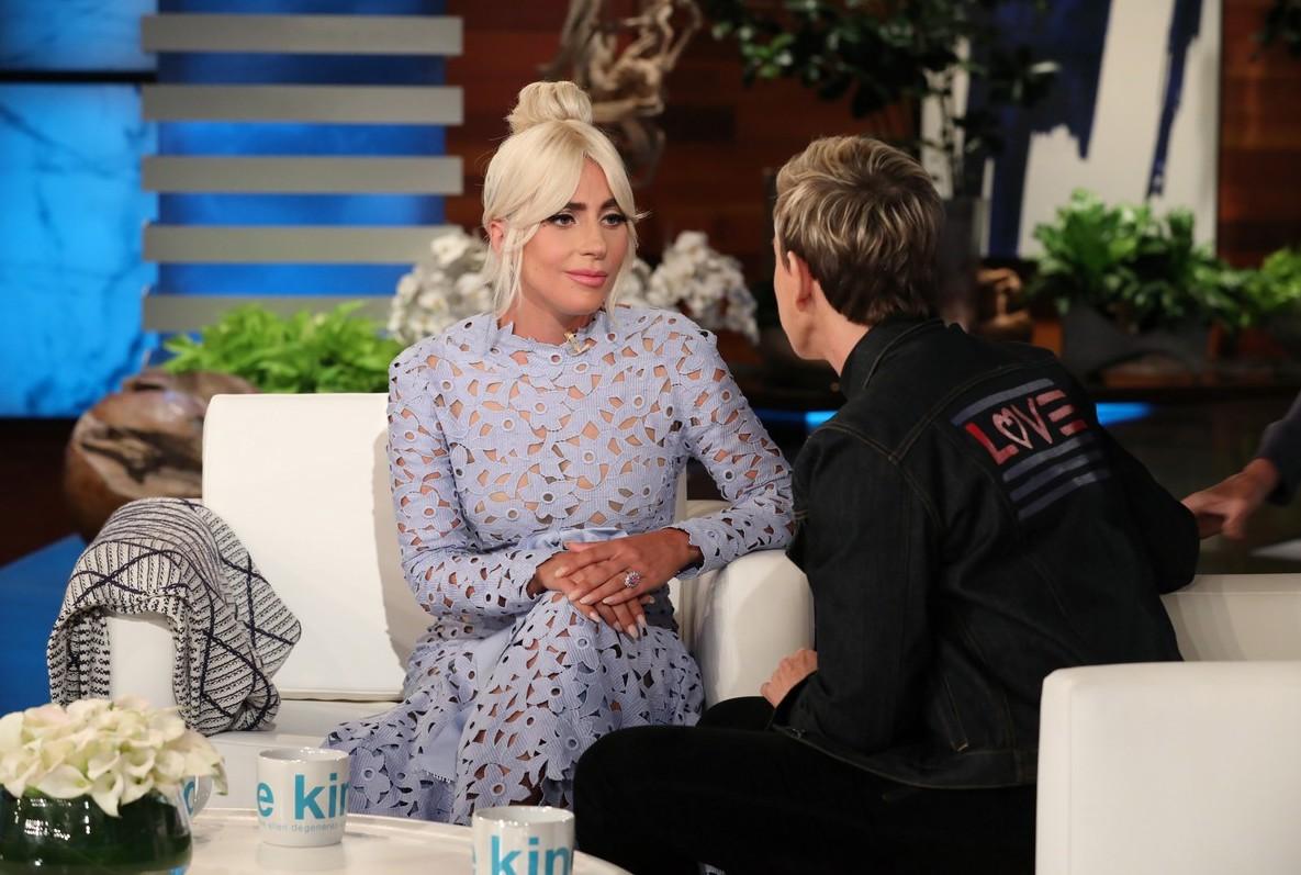 Lady gaga visits 39 ellen 39 talks 39 a star is born 39 more video that grape juice - Ellen show address ...