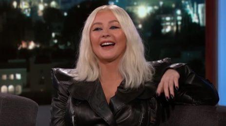 Christina Aguilera Visits 'Kimmel' / Talks Tour, Cardi B & Nicki Minaj Fight, & Collaborating With Britney Spears