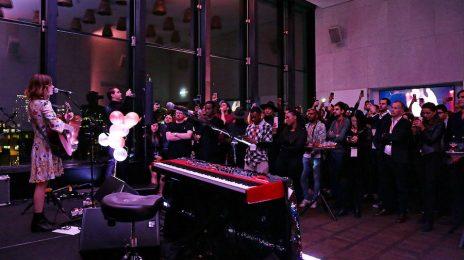 "Gabrielle Aplin Soars At Mobvoi's Innovative ""No Phones"" Tech Launch"