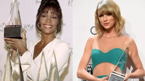Taylor Swift Has Broken Whitney Houston's Record As the #AMAs Most Awarded Female