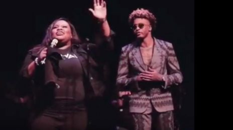 August Alsina Joins Tasha Cobbs On Stage For Powerful 'You Know My Name' Performance [Video]