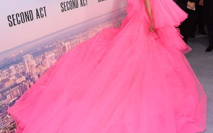 Hot Shots:  Jennifer Lopez Thinks Pink For 'Second Act' Premiere