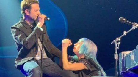 Lady Gaga Performs 'Shallow' Live With Bradley Cooper For First Time At 'Enigma'