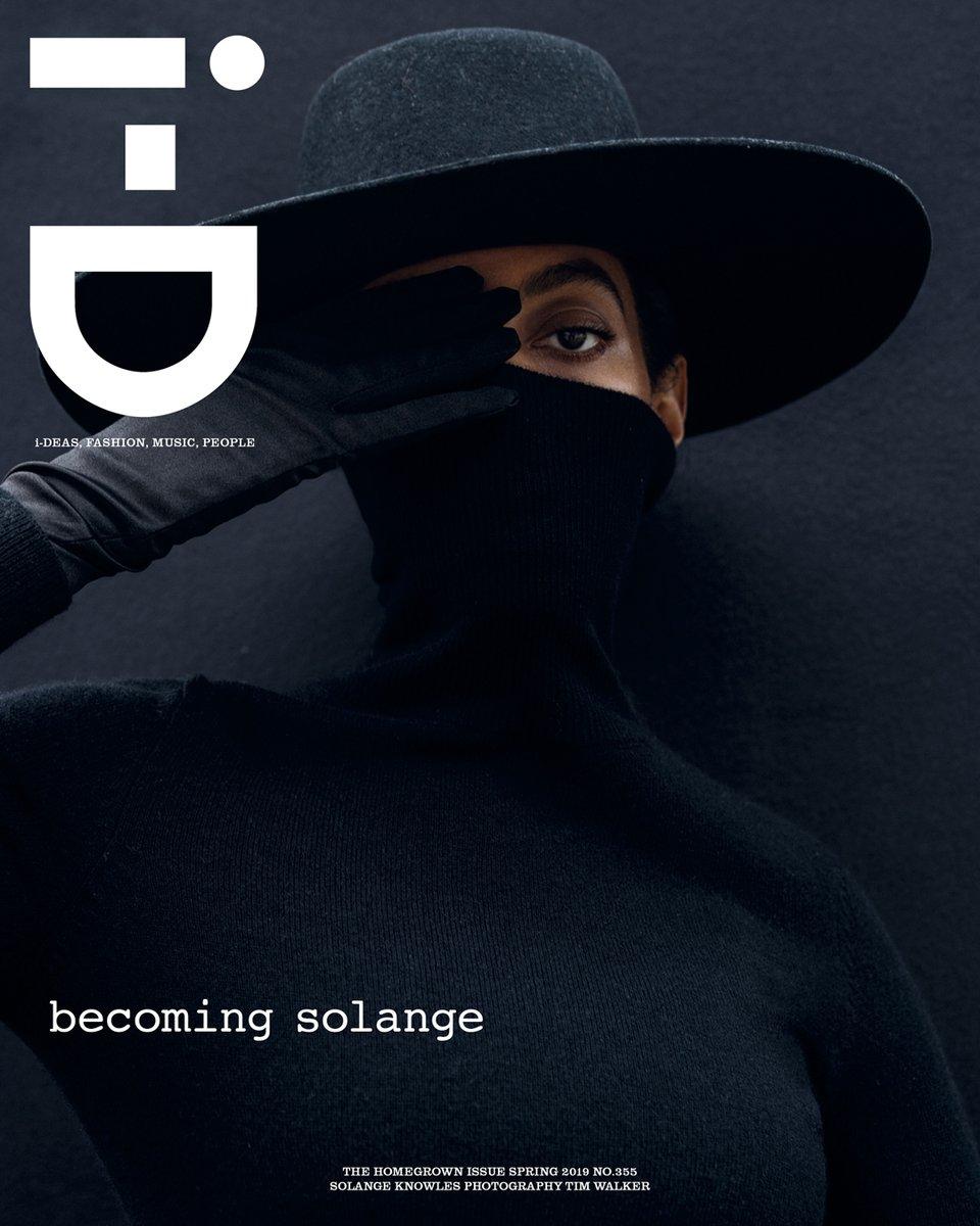 Solange Covers I D Magazine That Grape Juice