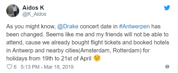 Drake Suffers Backlash From European Fans After Tour Stop