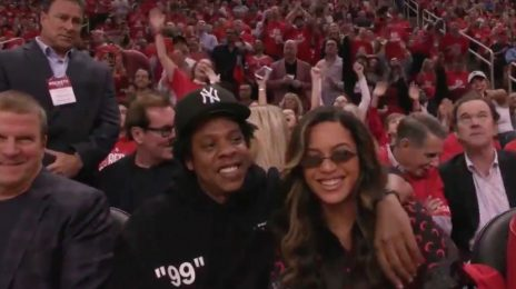 Beyonce & Jay-Z Spotted At Houston Rockets Game