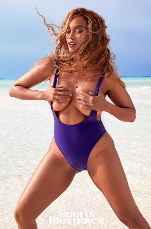 tyra banks illustrated sports swimsuit si bikini cover issue swim photoshoot shoot houston behind sport exuma magazine bahamas swimsuits scenes
