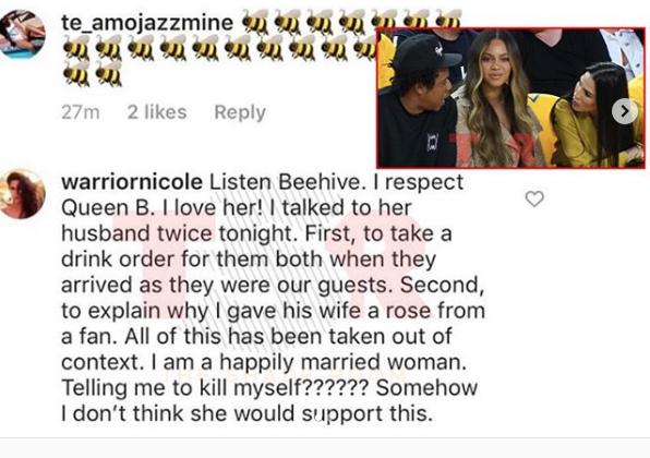 Após ataques, Nicole Curran deleta perfil do Instagram devido a episódio envolvendo Jay Z e Beyoncé