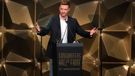 Watch:  Justin Timberlake Accepts Songwriters Hall of Fame Award, Performs Medley of Hits ['SexyBack,' Mirror,' & More]