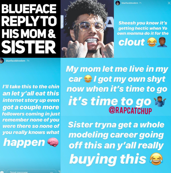 Oh No! BlueFace Kicks His Mother Out Of His House / Claims