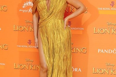 Beyonce Shines At 'Lion King' European Premiere / Meets Meghan Markle & Prince Harry
