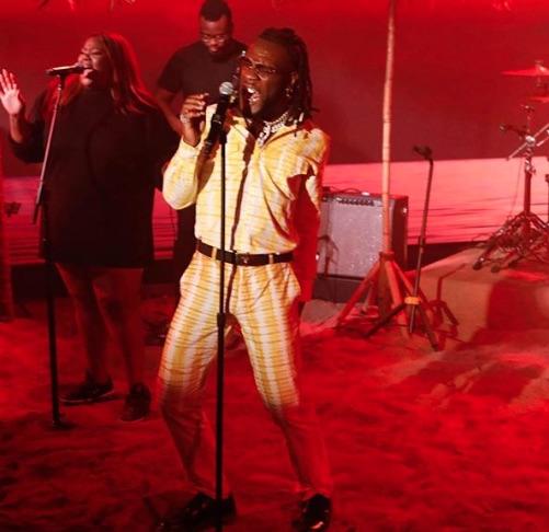 Burna Boy Blazes 'Jimmy Kimmel Live' [Performance] - That