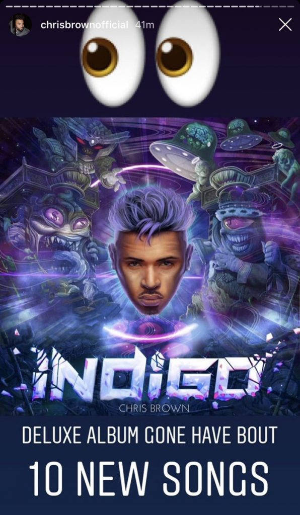Chris Brown Readying Deluxe Edition Of 'Indigo' Album - With