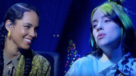 Alicia Keys & Billie Eilish Belt 'Ocean Eyes' On 'Corden' [Performance]