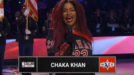 "Ouch!  Chaka Khan Slammed For ""Butchering"" U.S. National Anthem at NBA All-Star Game [Watch]"