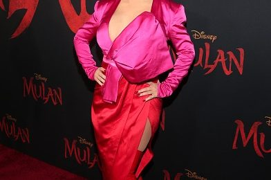 Christina Aguilera Stuns At Disney's 'Mulan' Premiere