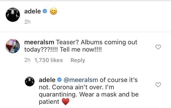 """Adele nega que novo álbum sairá em 2020 e dispara: """"O coronavírus ainda não acabou"""""""