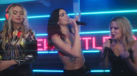 Dua Lipa And Kylie Minogue Perform 'Real Groove' For 'Studio 2054'